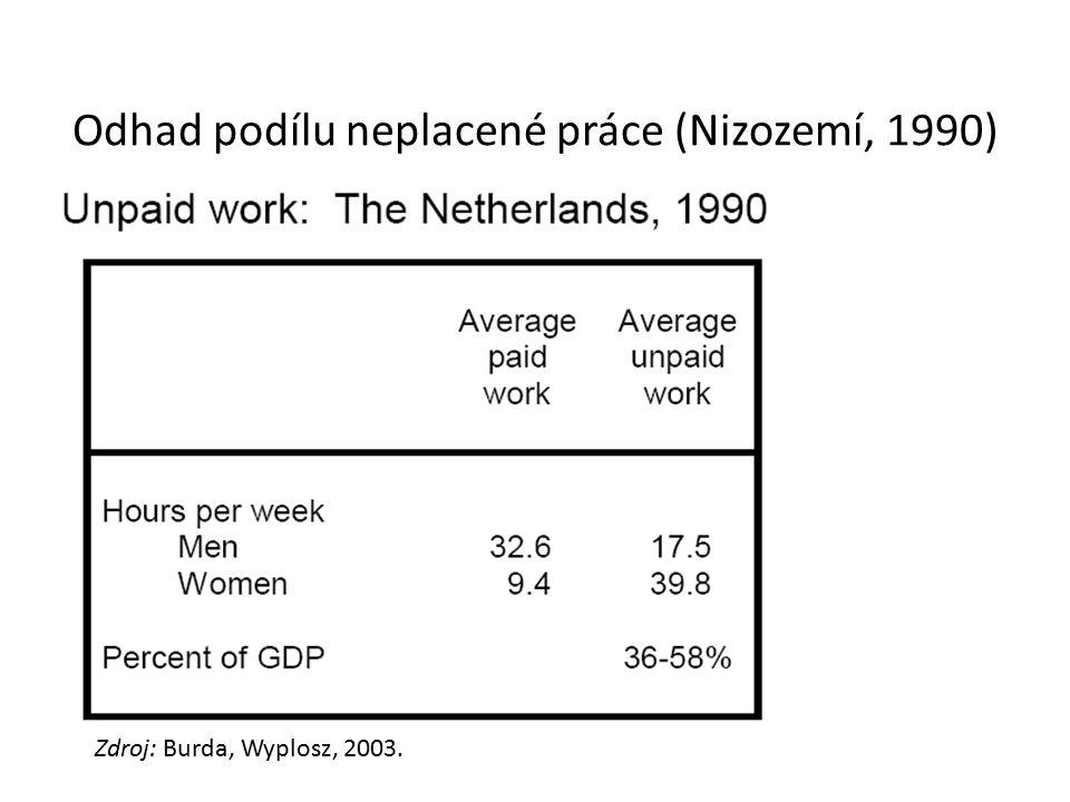 Odhad podílu neplacené práce (Nizozemí, 1990)