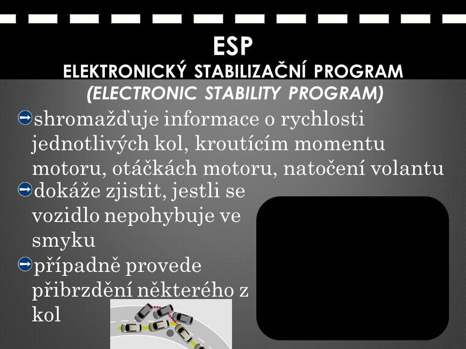 ELEKTRONICKÝ STABILIZAČNÍ PROGRAM (ELECTRONIC STABILITY PROGRAM)