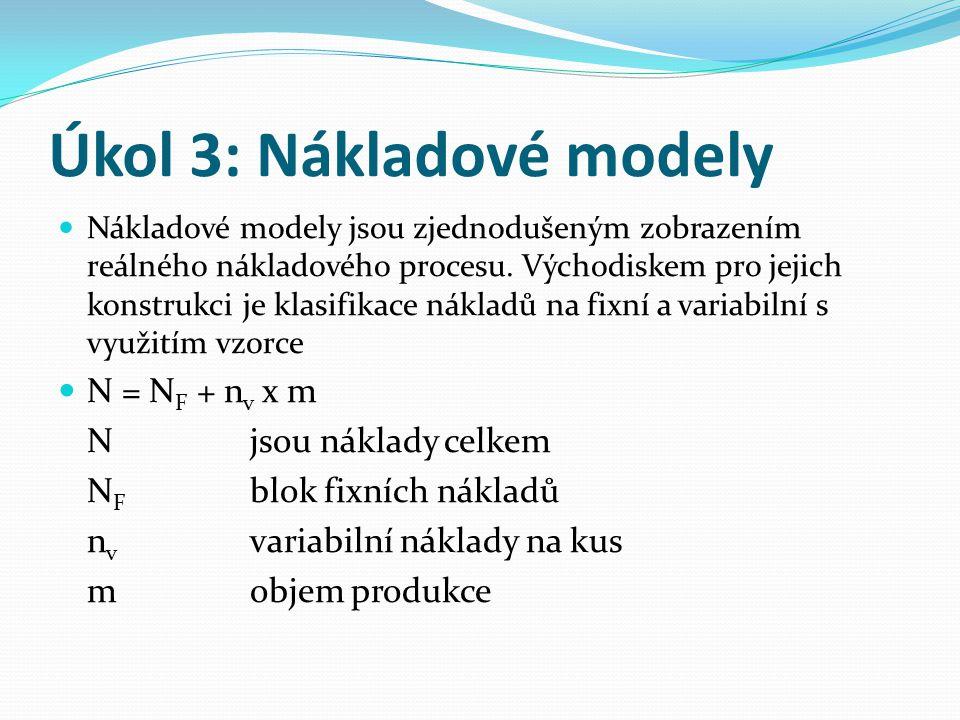 Úkol 3: Nákladové modely
