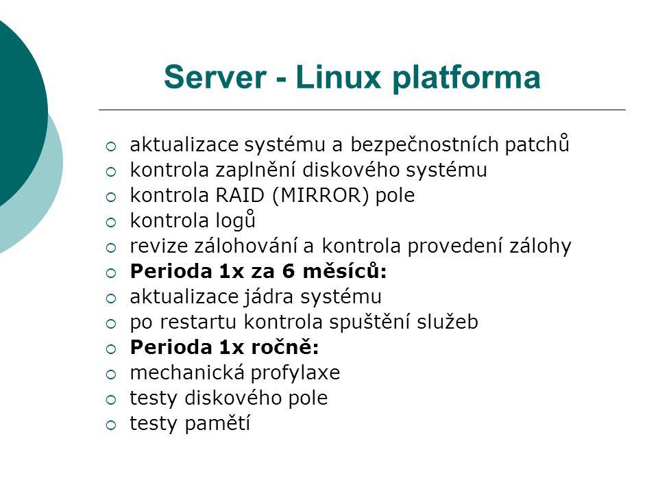 Server - Linux platforma