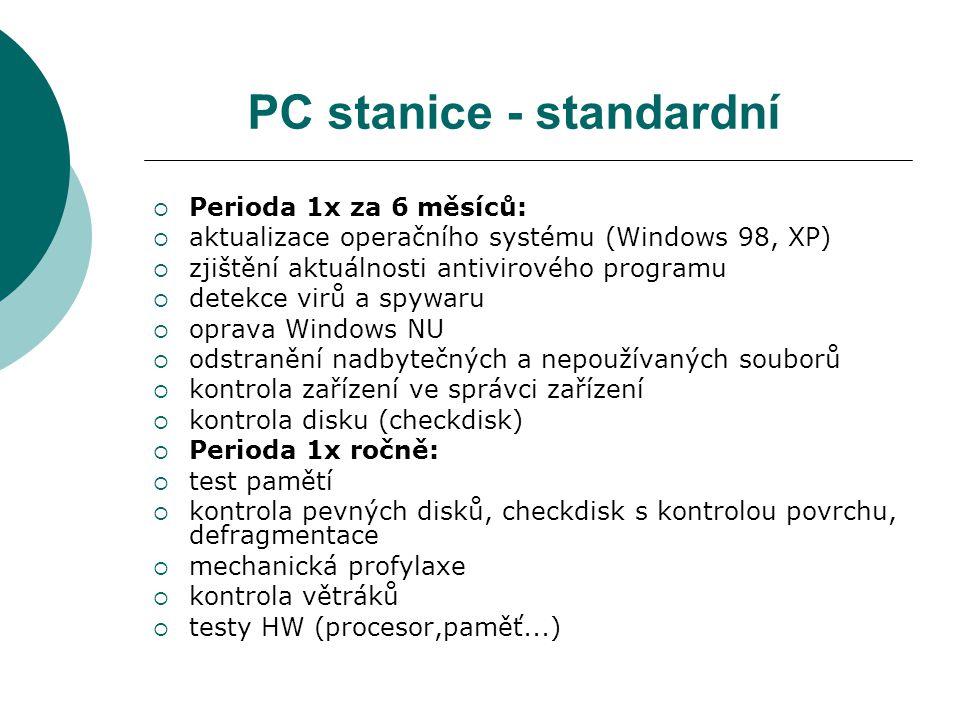 PC stanice - standardní