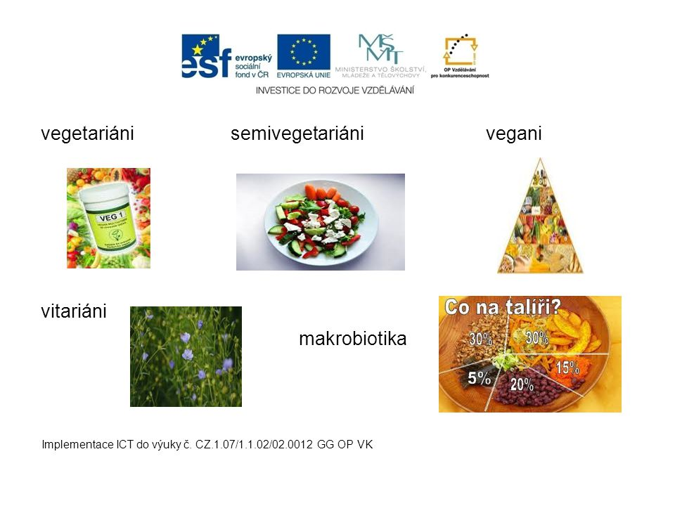 vegetariáni semivegetariáni vegani