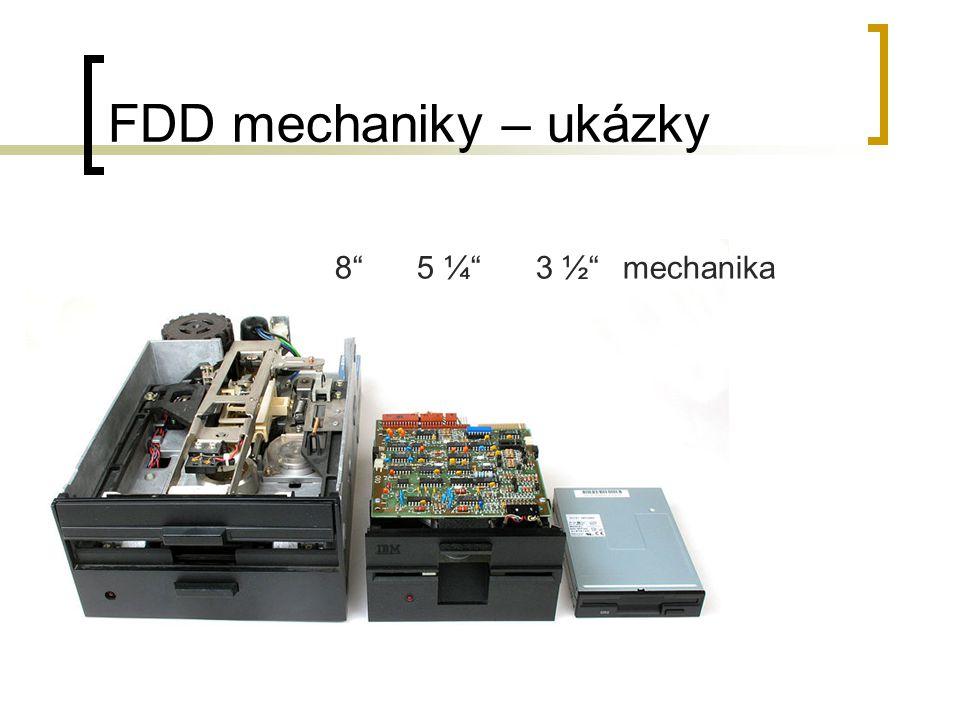 FDD mechaniky – ukázky 8 5 ¼ 3 ½ mechanika