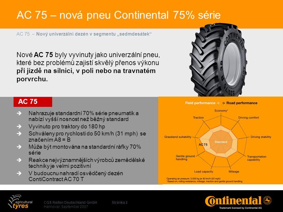 AC 75 – nová pneu Continental 75% série