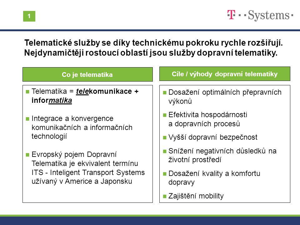 Cíle / výhody dopravní telematiky