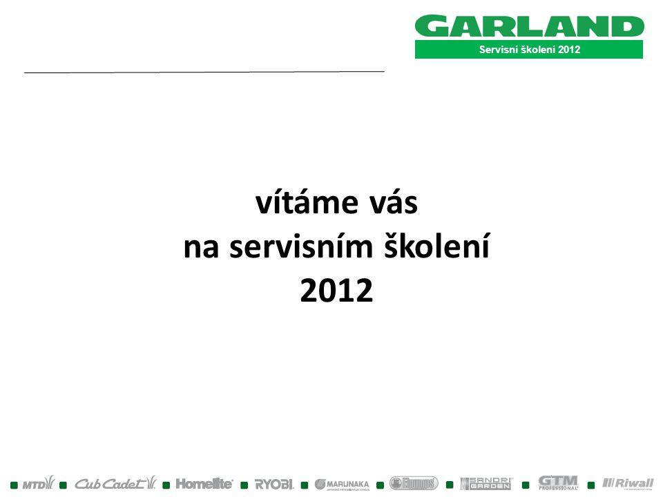 vítáme vás na servisním školení 2012