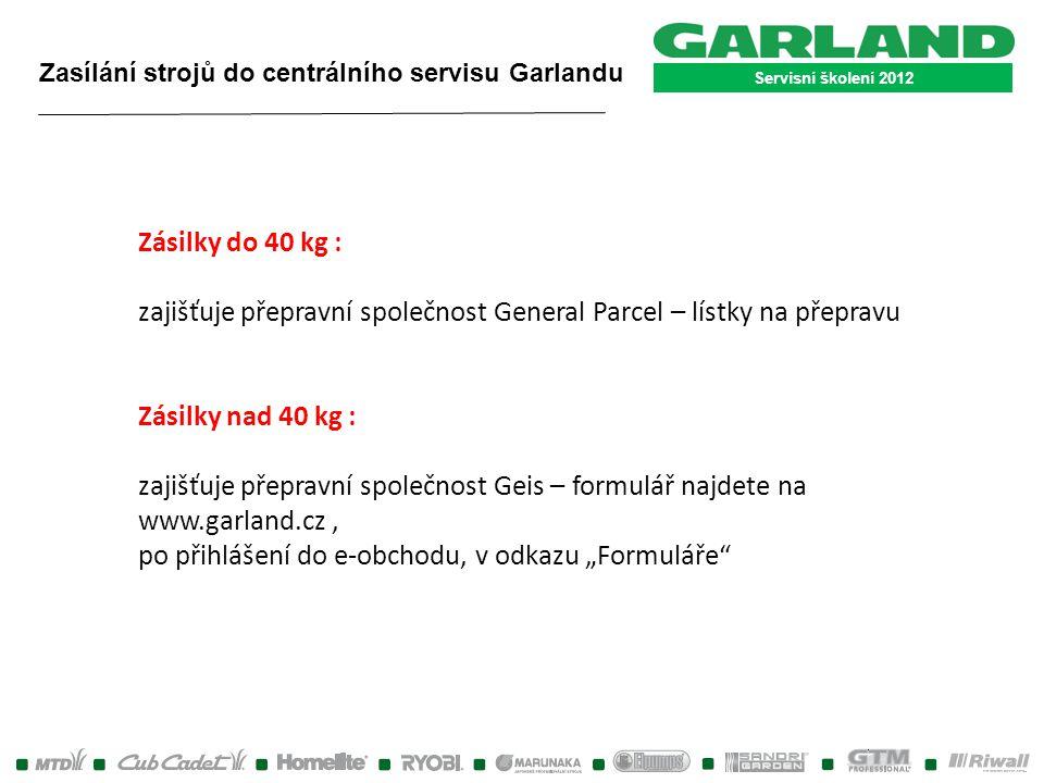zajišťuje přepravní společnost General Parcel – lístky na přepravu