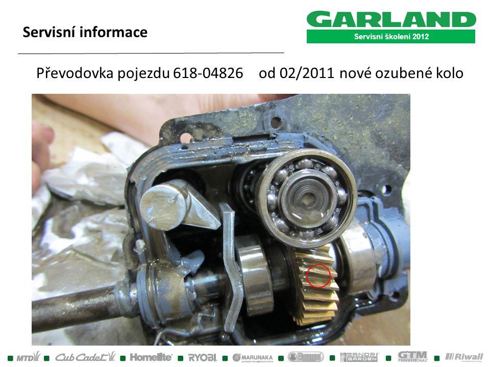 Převodovka pojezdu 618-04826 od 02/2011 nové ozubené kolo