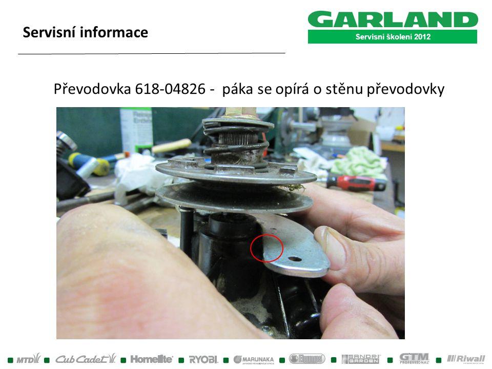 Převodovka 618-04826 - páka se opírá o stěnu převodovky