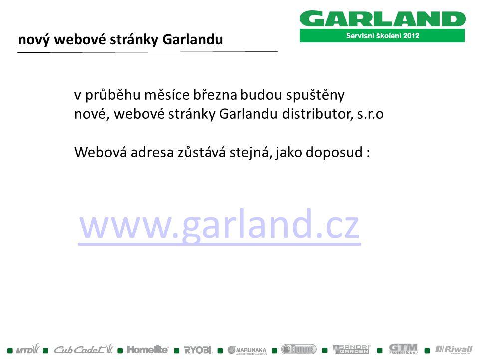 www.garland.cz nový webové stránky Garlandu