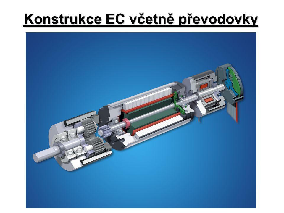 Konstrukce EC včetně převodovky