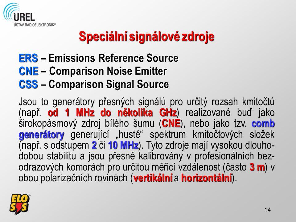 Speciální signálové zdroje