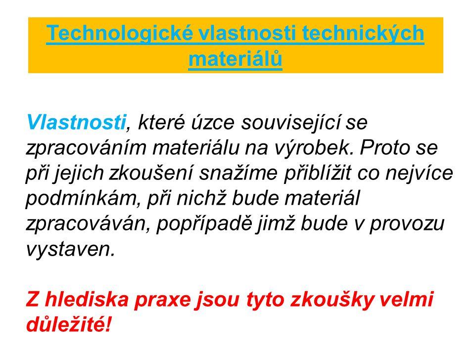 Technologické vlastnosti technických materiálů