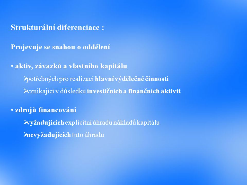 Strukturální diferenciace :