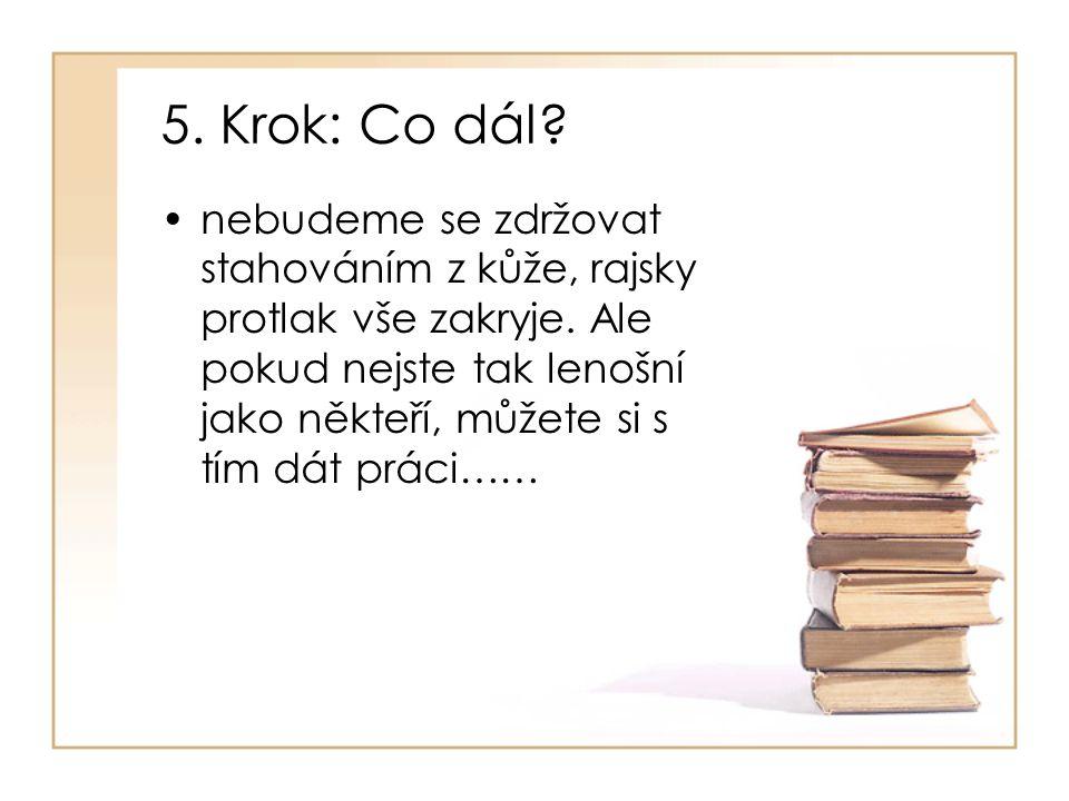 5. Krok: Co dál