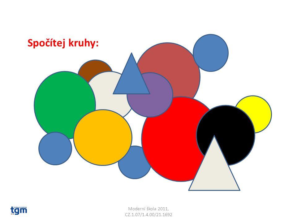 Spočítej kruhy: Je jich 12. Moderní škola 2011, CZ.1.07/1.4.00/21.1692
