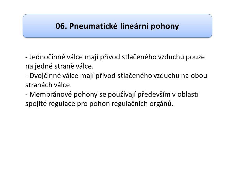06. Pneumatické lineární pohony