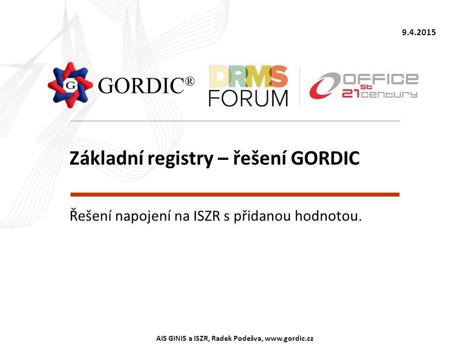 Základní registry – řešení GORDIC