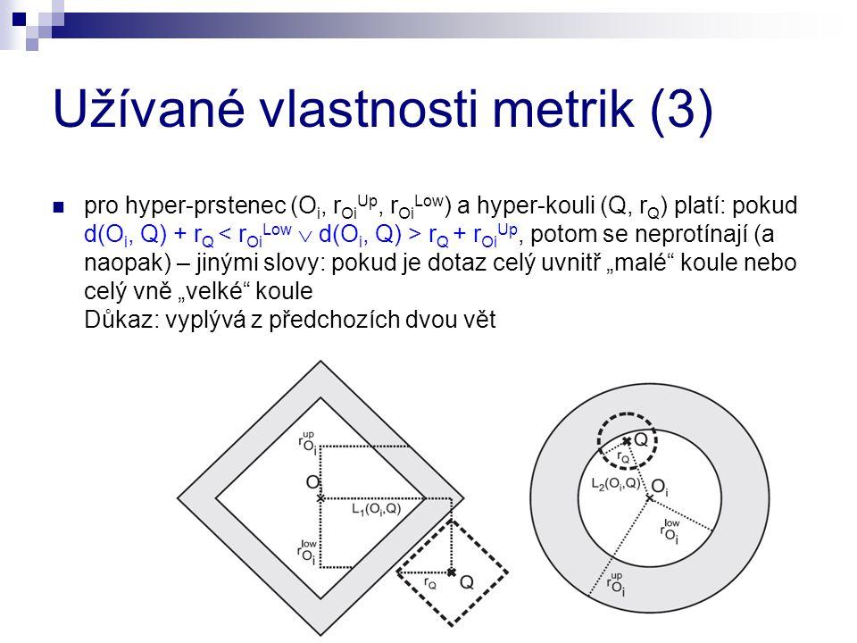 Užívané vlastnosti metrik (3)