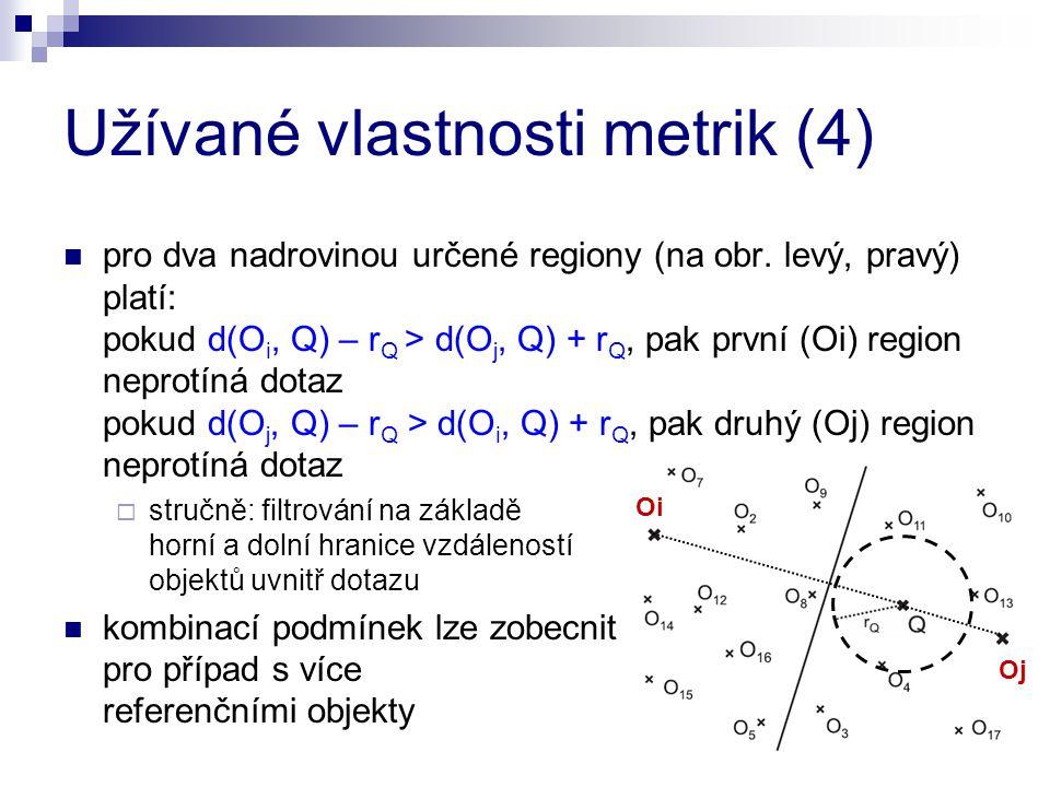 Užívané vlastnosti metrik (4)