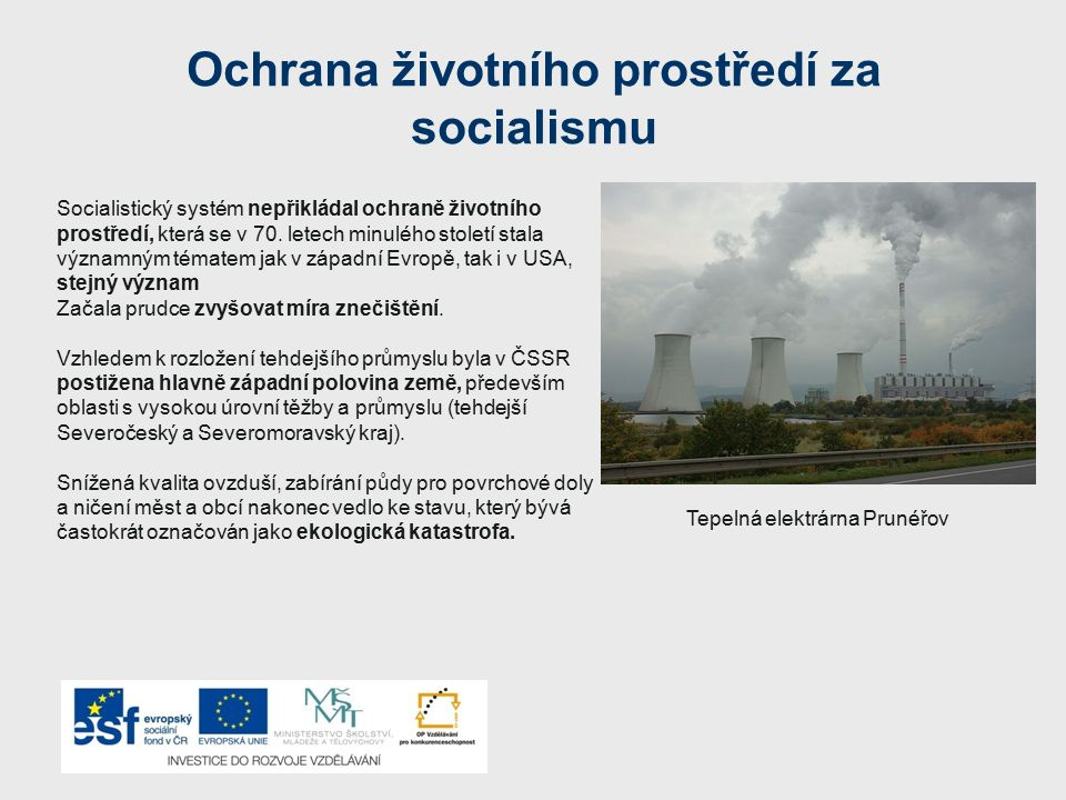 Ochrana životního prostředí za socialismu