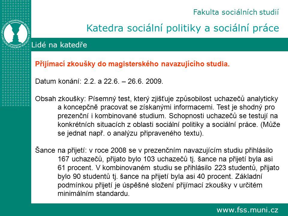 Katedra sociální politiky a sociální práce