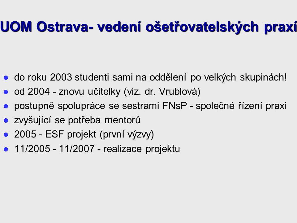 UOM Ostrava- vedení ošetřovatelských praxí