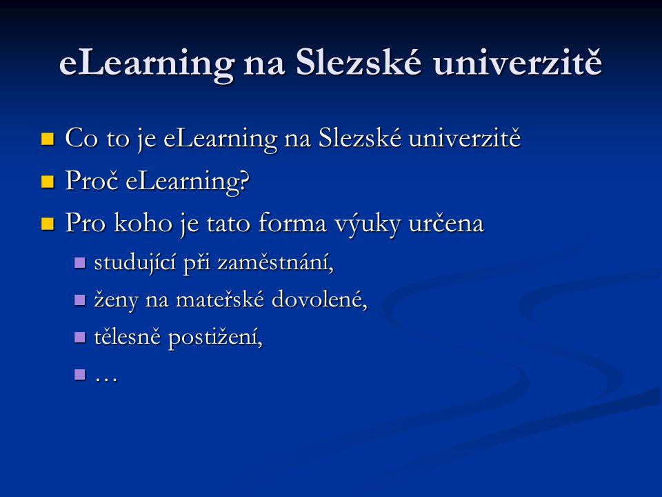 eLearning na Slezské univerzitě