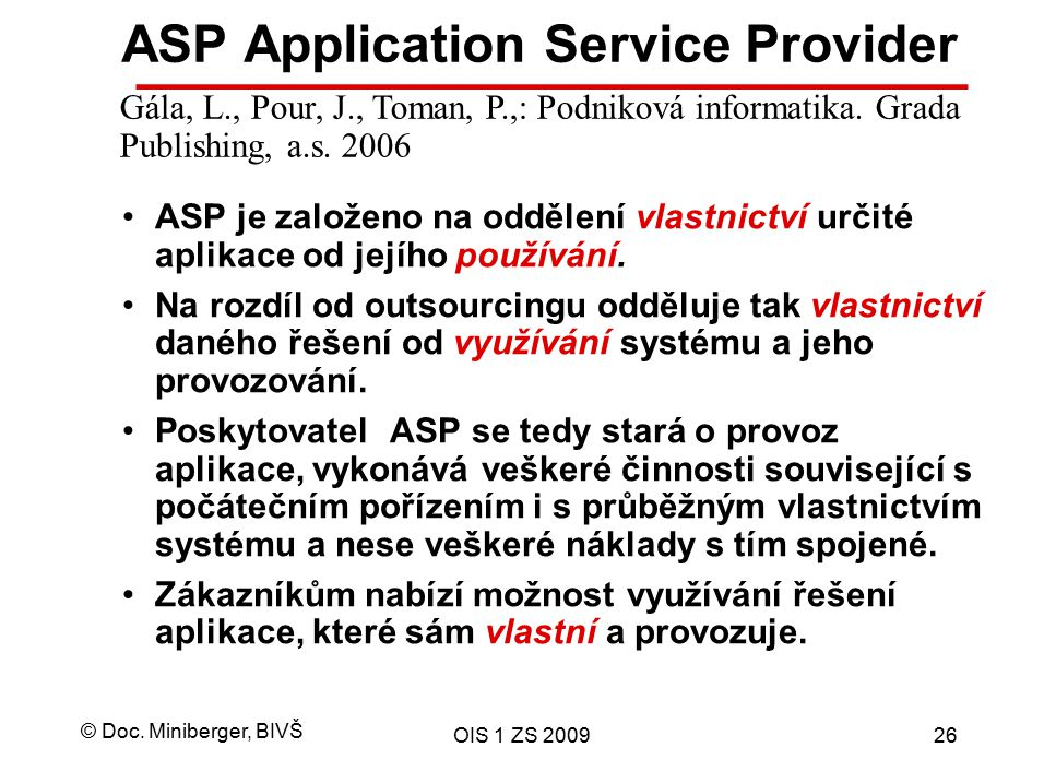 ASP Application Service Provider