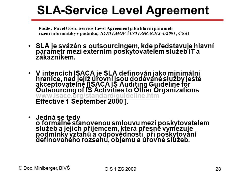 SLA-Service Level Agreement