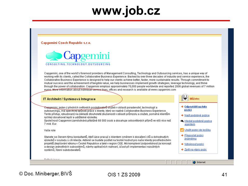 www.job.cz OIS 1 ZS 2009
