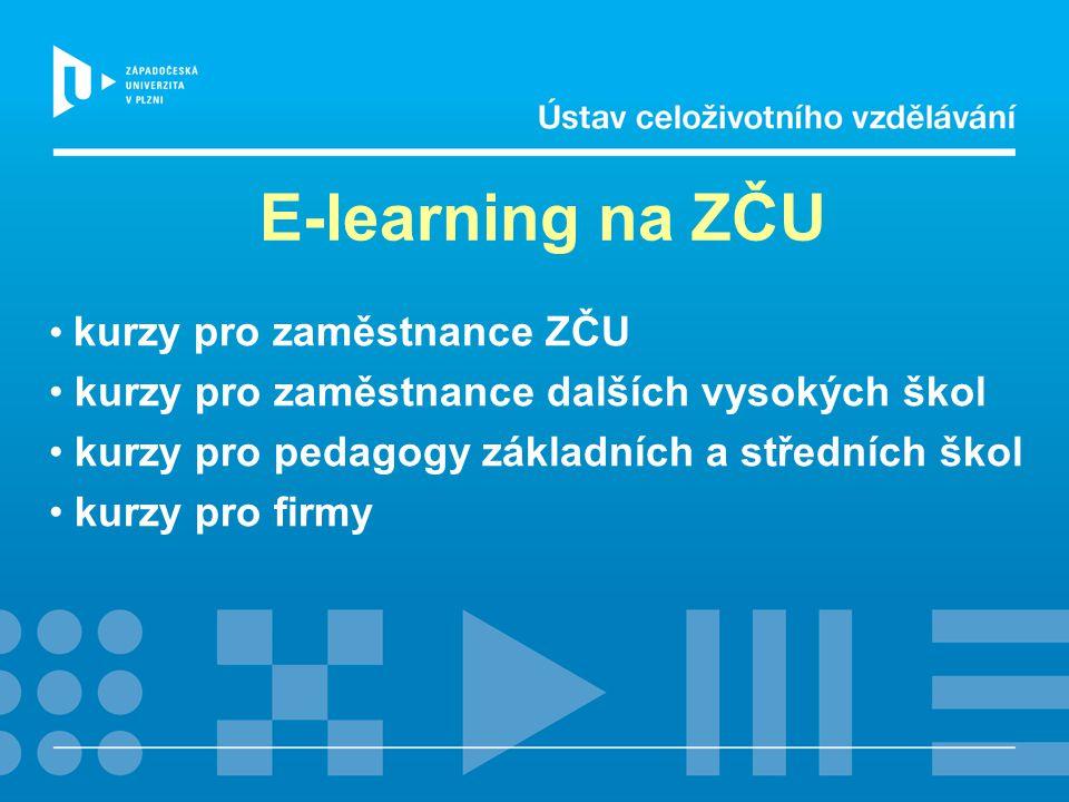 E-learning na ZČU kurzy pro zaměstnance ZČU