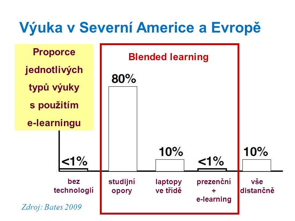 Výuka v Severní Americe a Evropě