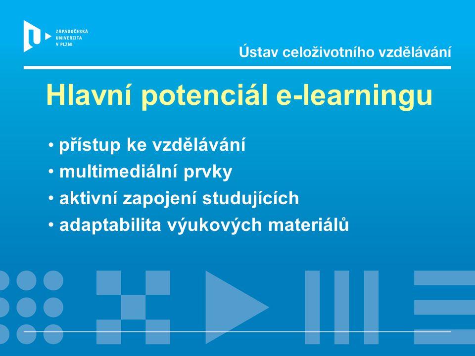 Hlavní potenciál e-learningu