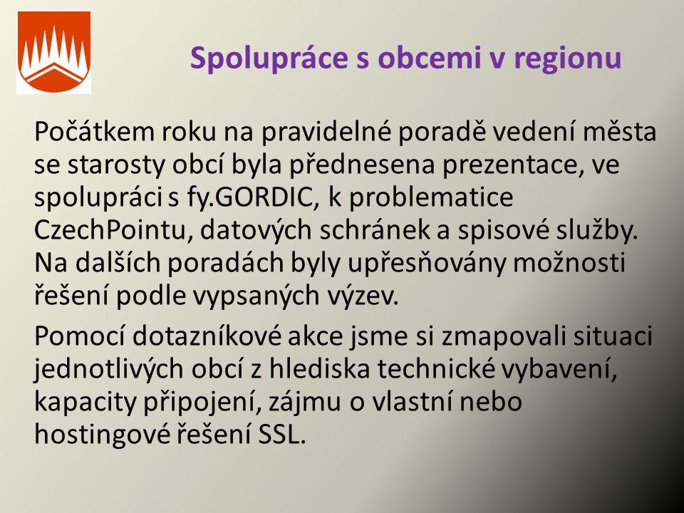 Spolupráce s obcemi v regionu