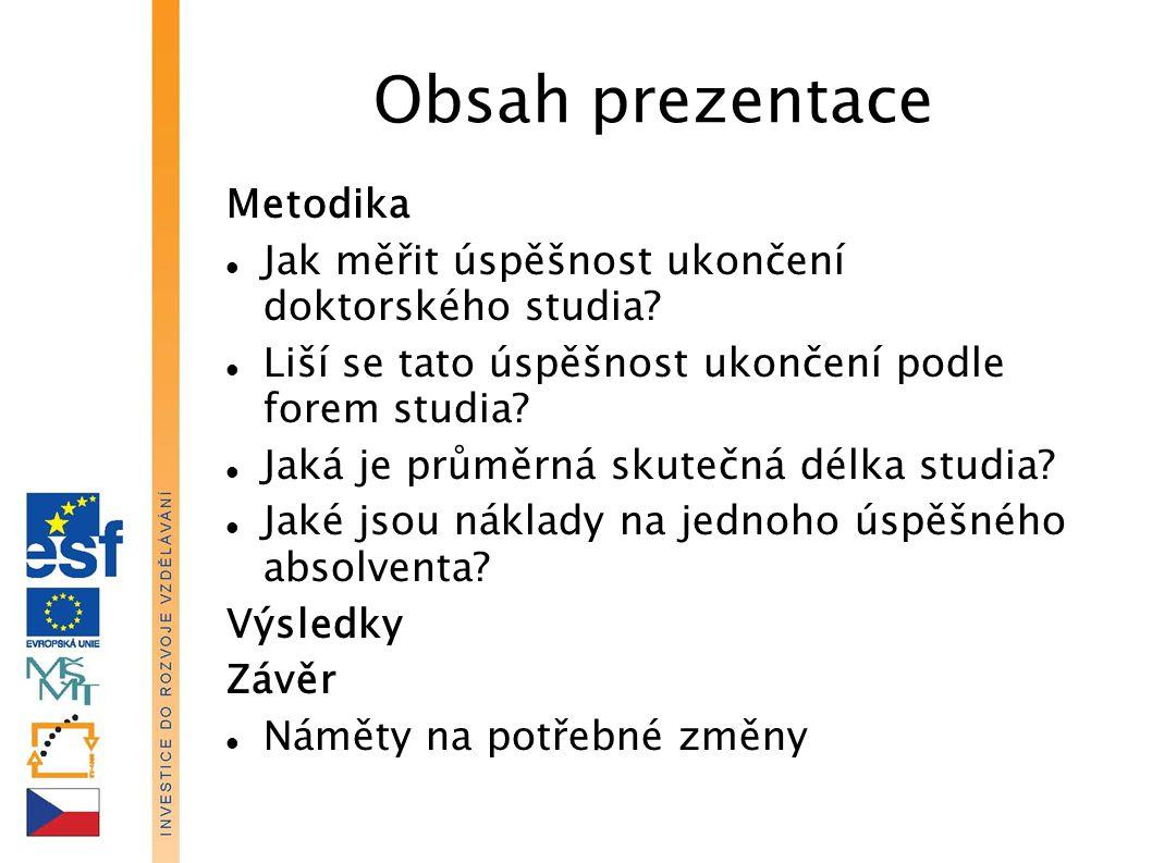 Obsah prezentace Metodika