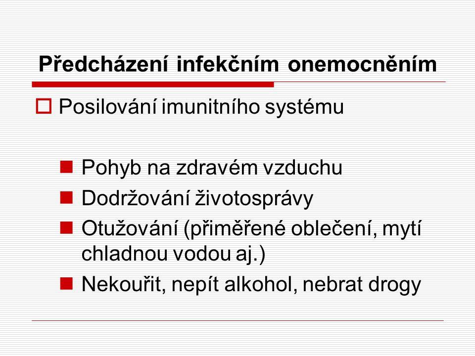 Předcházení infekčním onemocněním