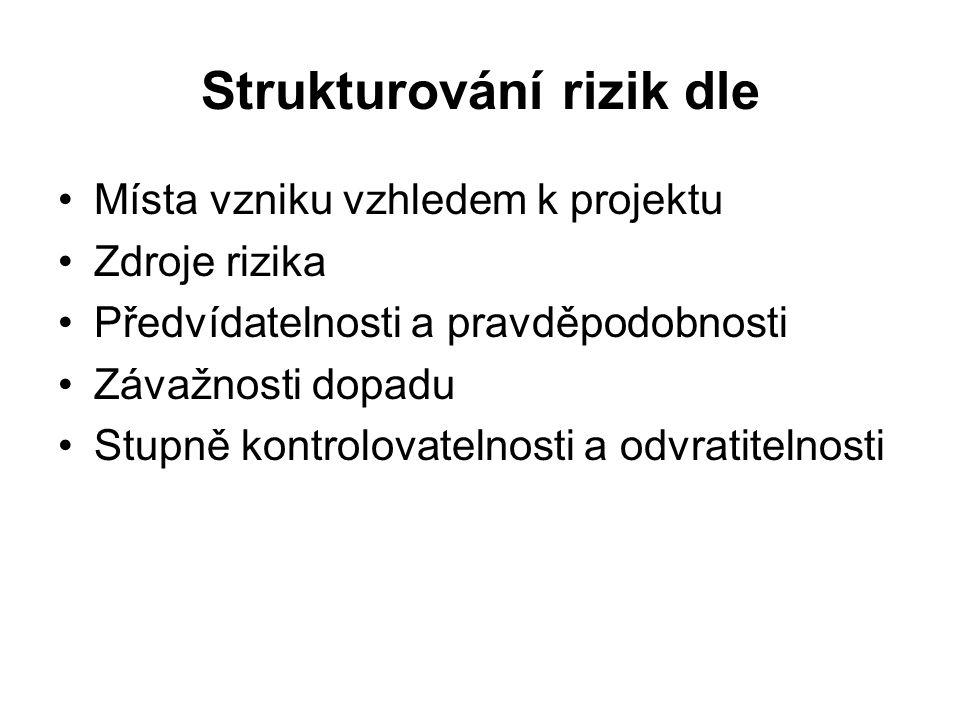 Strukturování rizik dle