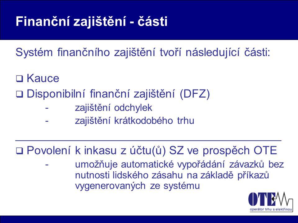 Finanční zajištění - části