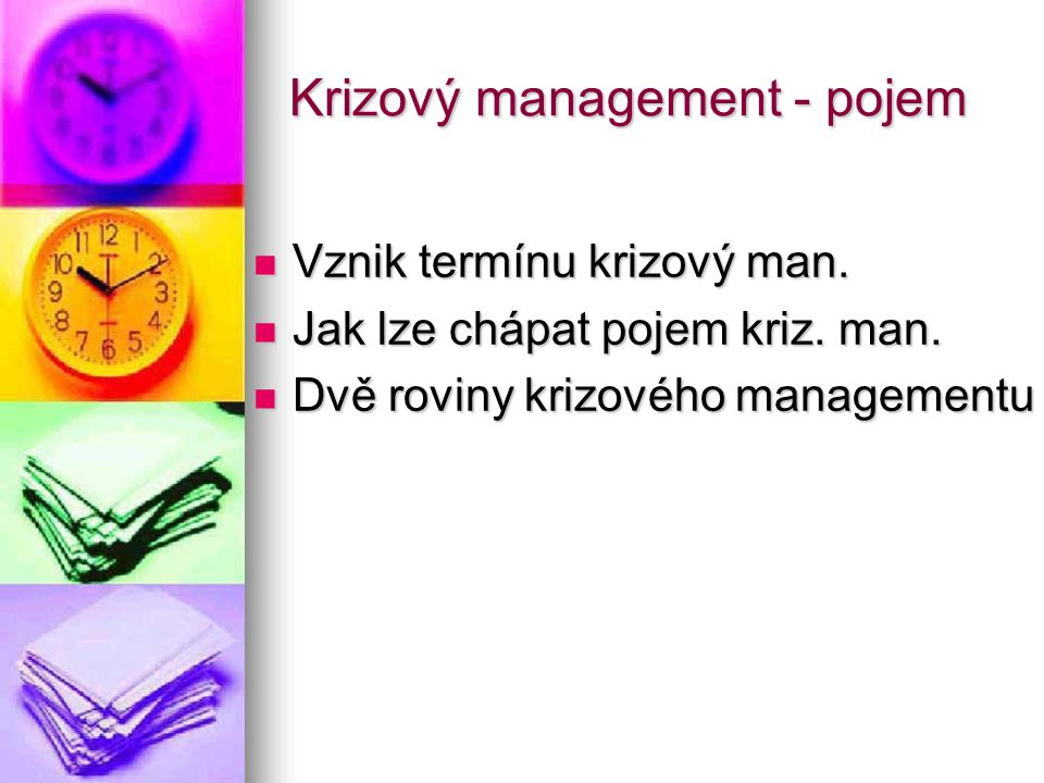 Krizový management - pojem