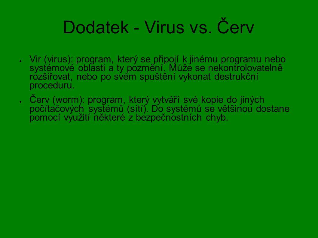 Dodatek - Virus vs. Červ