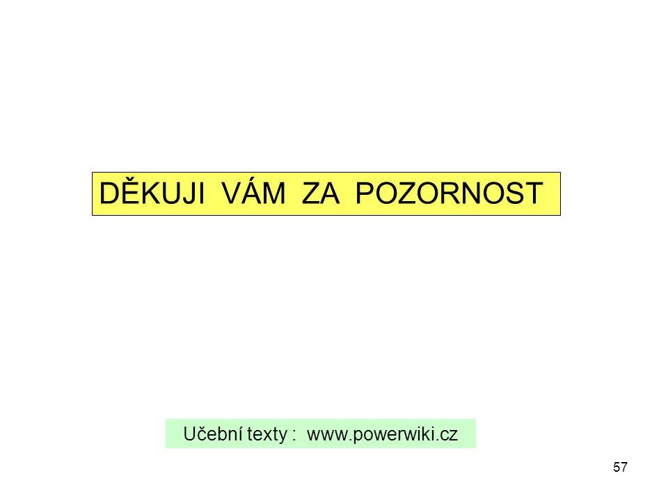 Učební texty : www.powerwiki.cz