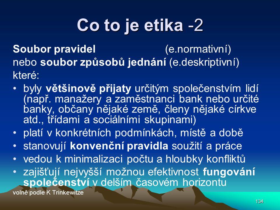 Co to je etika -2 Soubor pravidel (e.normativní)