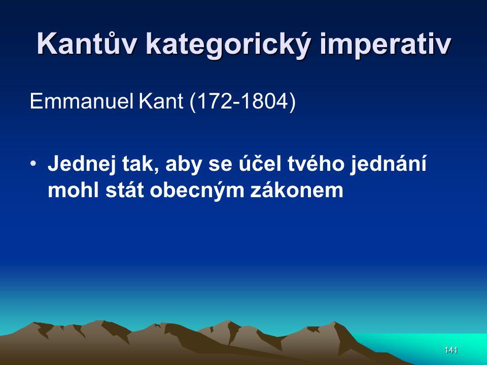 Kantův kategorický imperativ