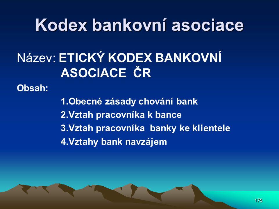Kodex bankovní asociace