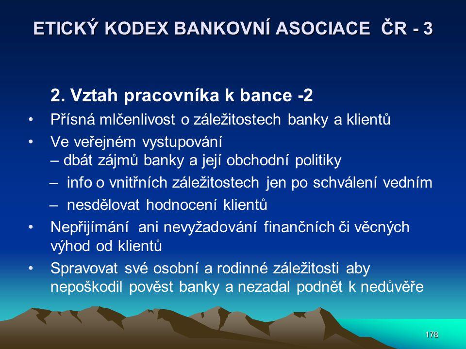 ETICKÝ KODEX BANKOVNÍ ASOCIACE ČR - 3