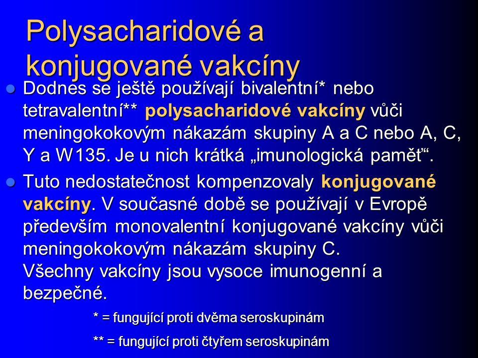 Polysacharidové a konjugované vakcíny