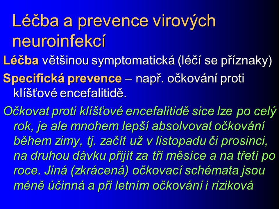 Léčba a prevence virových neuroinfekcí