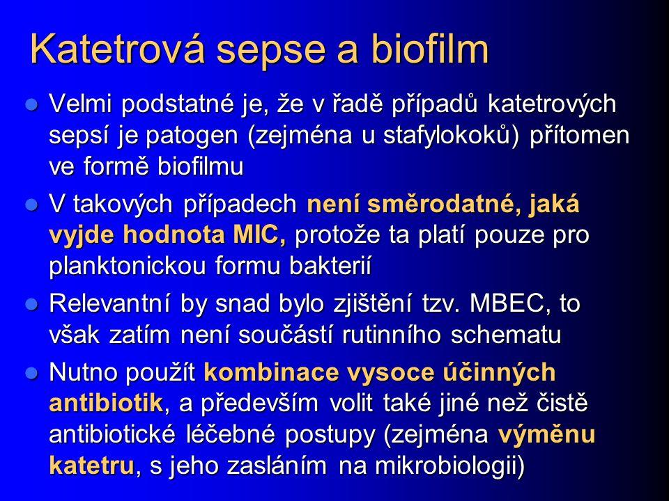 Katetrová sepse a biofilm