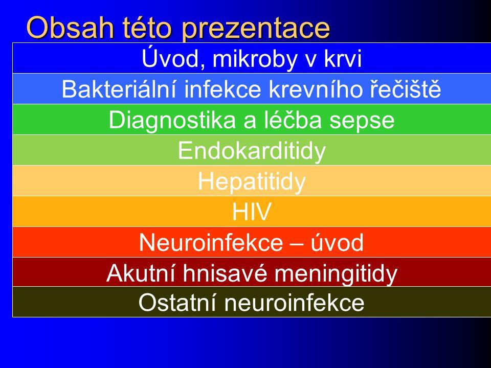 Obsah této prezentace Úvod, mikroby v krvi